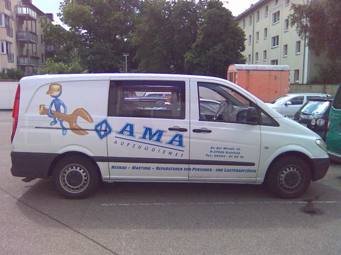 AMA Außenwerbung Autoaufkleber Corporate Designe