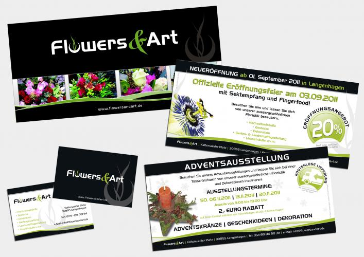 Corporate Design Printmedien Flowers & Art