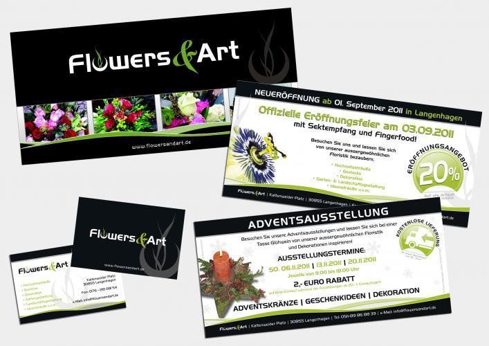 Corporate Design Printmedien Flowers & Art