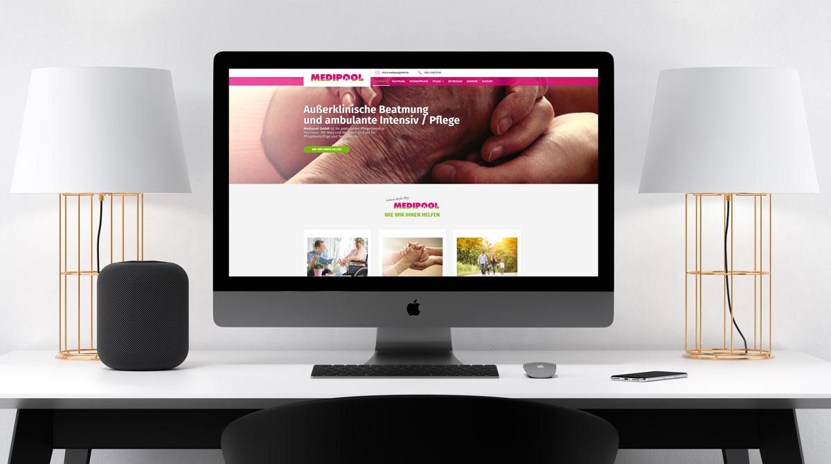 Dirim Media Internetagentur Hannover Responsive Webdesign Referenz Medipool