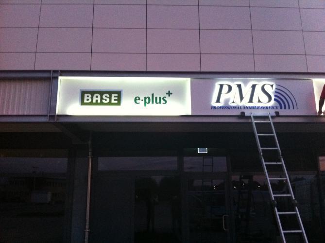 PMS Außenwerbung Logo Gestaltung