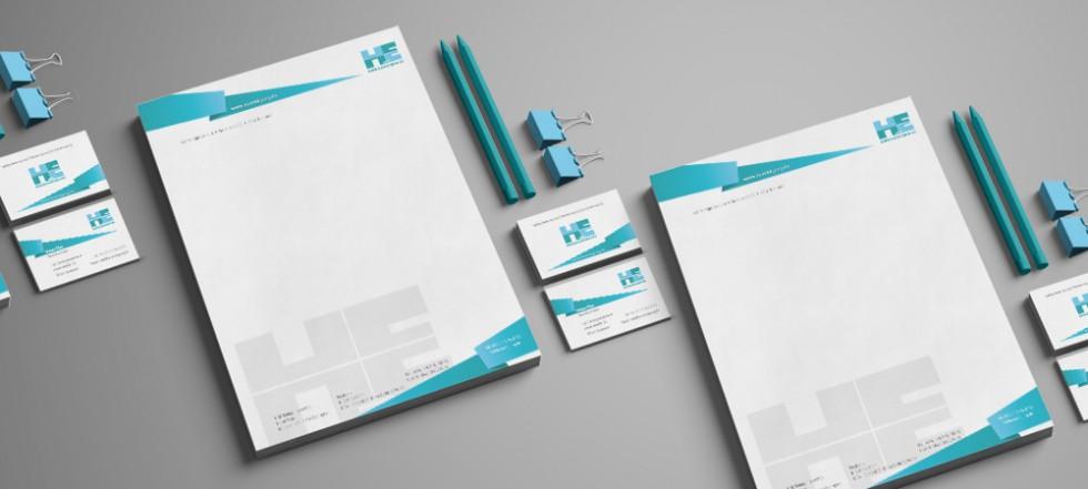 Corporate Design H&E Reinigungsservice