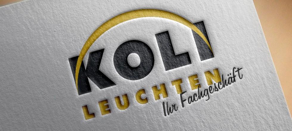 Logo von Koli Leuchten gedruckt auf Papier