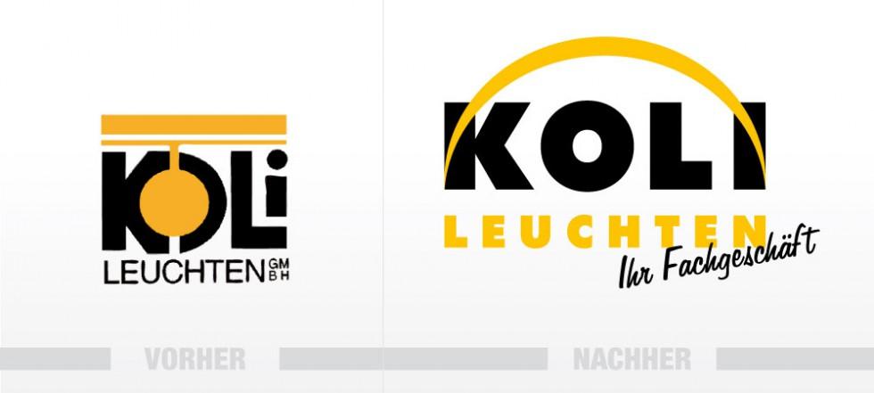 Modernisierung des Logos für Koli Leuchten