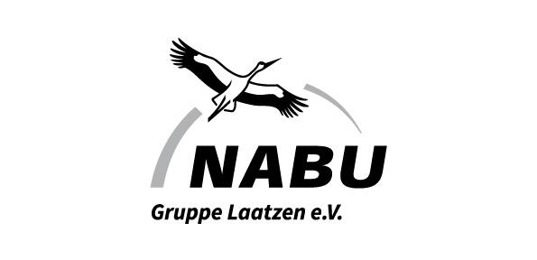 schwarz weißes Logo Nabu Laatzen