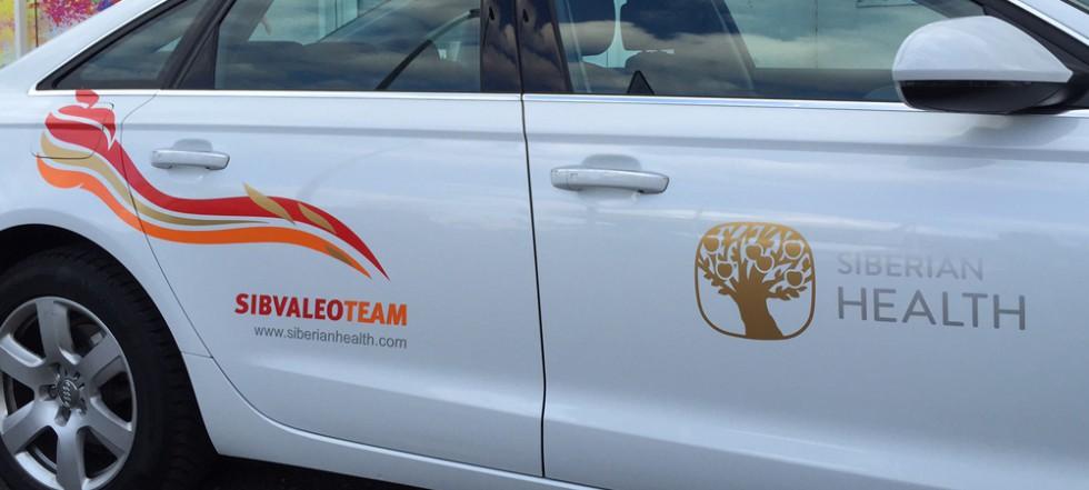 Logos als KFZ Beschriftung für Siberian Health