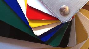 Außenwerbung Werbetechnik Material Aluminiumplatte